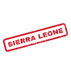 Sierra Leone Rubber Stamp vector image