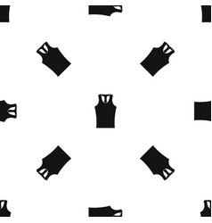 sleeveless shirt pattern seamless black vector image