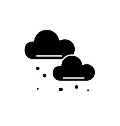Snow clouds black icon sign on isolated vector