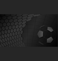 soccer background in black colors vector image