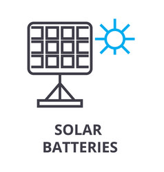 solar batteries thin line icon sign symbol vector image