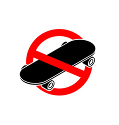 Stop skateboard no skateboarding it is forbidden vector