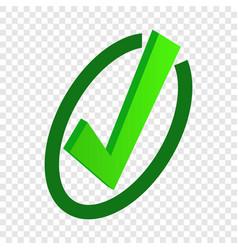 tick isometric icon vector image