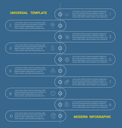 timeline universal template modern infographic vector image