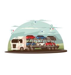 Transportation cars vector
