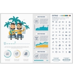 Travel flat design Infographic Template vector