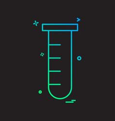 tube lab icon design vector image