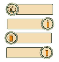 Vintage beer frame vector
