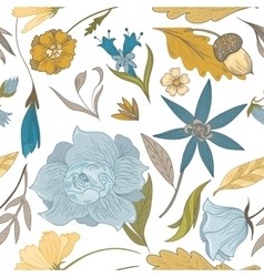 Vintage Fall Floral Pattern vector