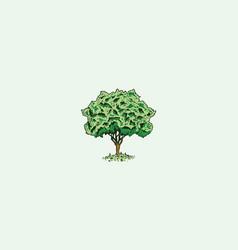 vintage tree logo icon vector image