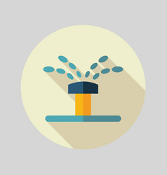 Water sprinkler irrigation flat icon vector