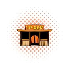 Western saloon icon comics style vector image