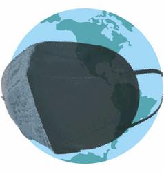 World in a respirator vector