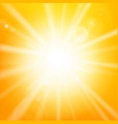 abstract hot yellow background with sunlight and vector image