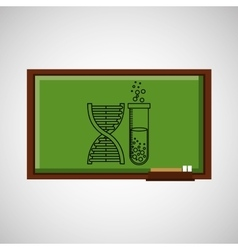 education concept blackboard with chemistry vector image vector image