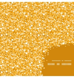 golden shiny glitter texture frame corner pattern vector image vector image