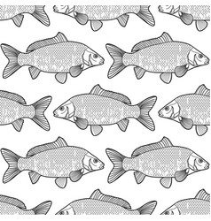 graphic carp pattern vector image vector image