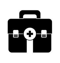 isolated medicine chest vector image vector image