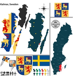Map of Kalmar vector image