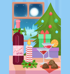 table served for christmas vector image