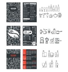 Drinks Menu for Design 1 vector image vector image