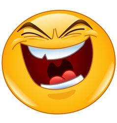 evil laugh emoticon vector image vector image
