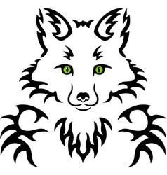 fox tattoo vector image vector image