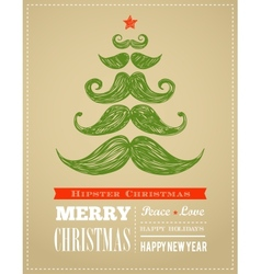 Hipster New Year and merry Christmas vector image vector image