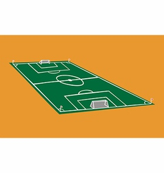 Soccer field vector image