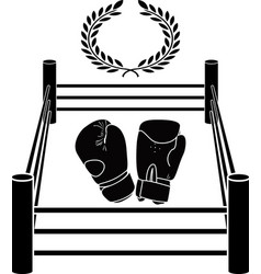 stencil of boxer ring vector image vector image