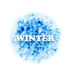 Abstract Winter Background with Set Snowflakes vector image