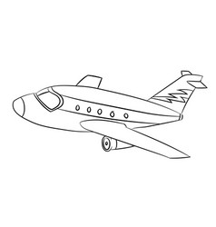 air plane - line drawn vector image
