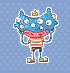 cartoon many-eyed monster vector image vector image