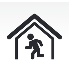exit icon vector image