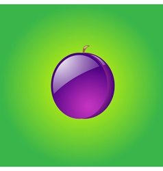 Glossy plum vector image