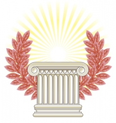Greek column vector image vector image