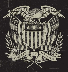 Hand Drawn American Eagle vector image vector image