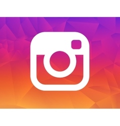 New Instagram logo 2016 camera icon symbolic with vector image
