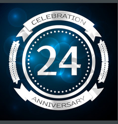 twenty four years anniversary celebration with vector image vector image