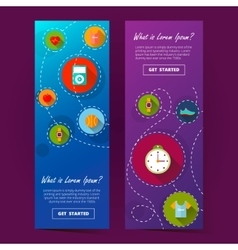 two cool vertical banner ilustration vector image vector image