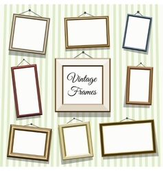 Vintage photo or picture frames vector image vector image