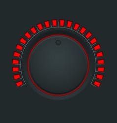 volume switch black round button knob vector image