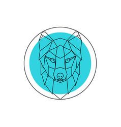 arctic fox head logo vector image vector image