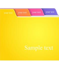 Folder tabs vector image vector image