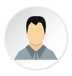 Man in shirt avatar icon flat style vector image vector image