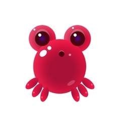 Pink Balloon Marine Creature Character vector image vector image