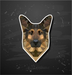 shepherd sheep-dog abstract triangle polygonal vector image vector image