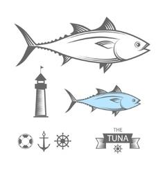 Tuna set vector image