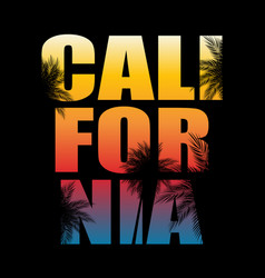 abstract california palm background vector image