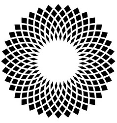 Abstract circular motif on white rotated vector